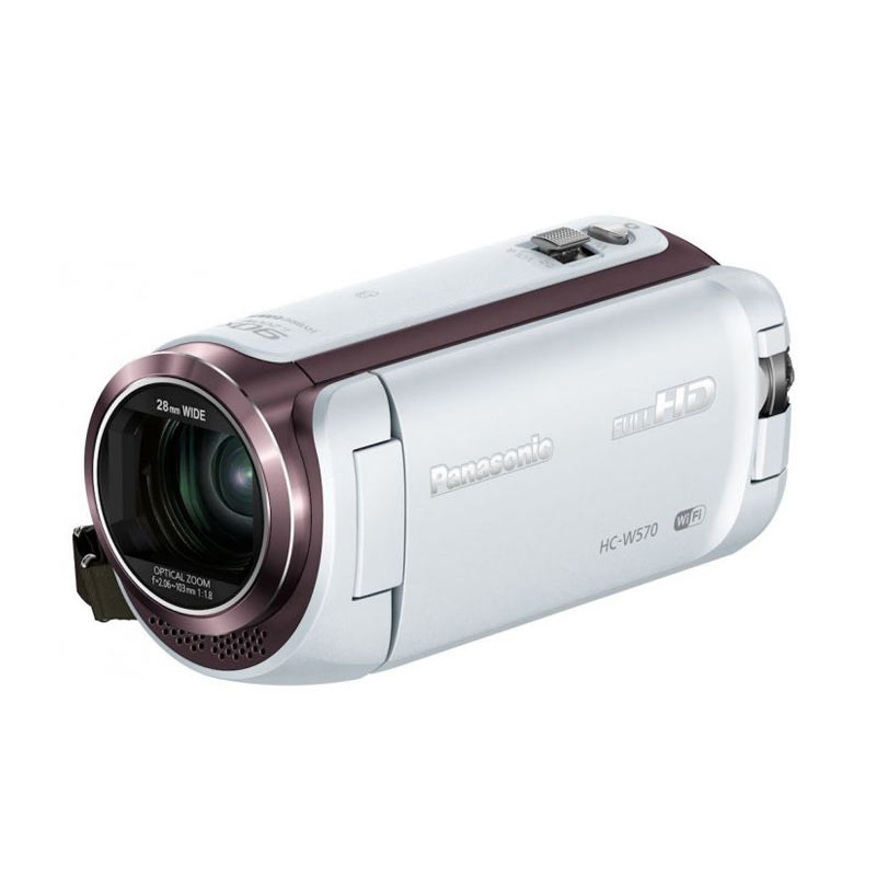 Panasonic Twin Cam HC W570 Putih Camcorder [2.52 MP/50x Optical Zoom]
