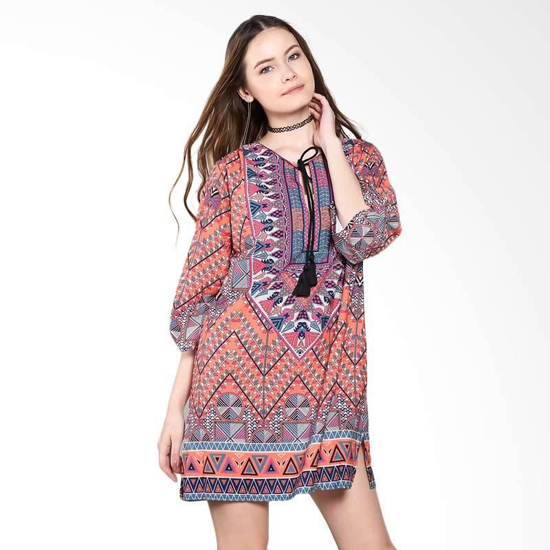 harga Papercut Fashion C28 5528 Bohemian Dress - Orange Blibli.com