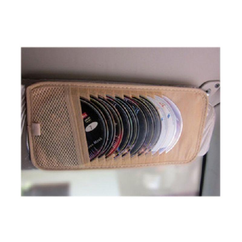 Zun Djan CD Visor Tempat Penyimpanan CD (Dipasang pada bagian pelindung matahari (Sun visor)) (untuk semua mobil)