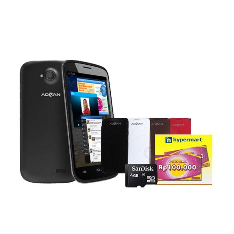 Advan Vandroid S5J Black Smartphone + Voucher dan lainnya