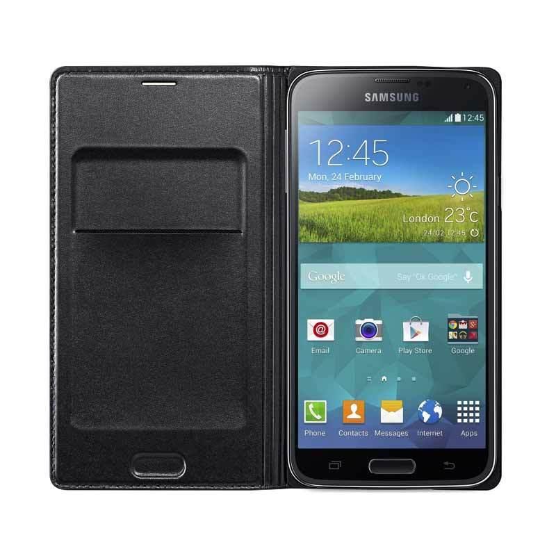 Samsung Flip Wallet For Galaxy S5 Black