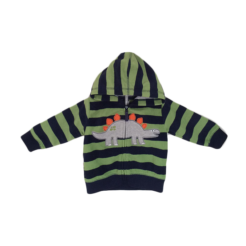 Peek A Boo Hoodie Dino Stripe Jacket Bayi