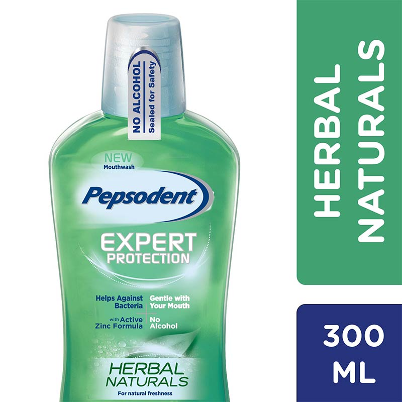 Pepsodent Mouthwash Herbal Natural 300ml
