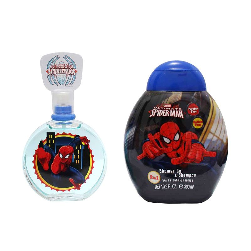 AirVal International Spiderman Ultimate Shower Gel dan Parfum [Gift Set]