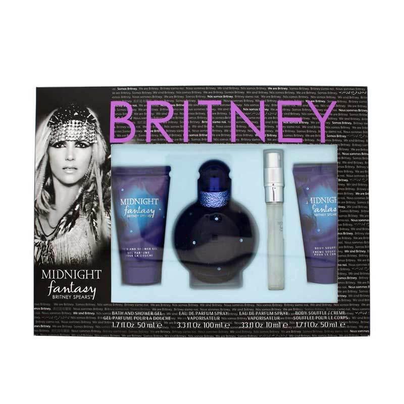 Britney Spears Midnight Fantasy Parfum Wanita [Gift Set 2]