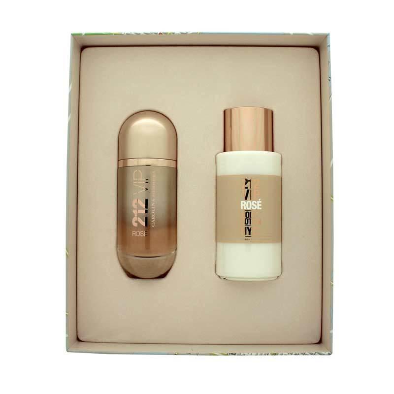 Carolina Herrera 212 VIP Rose Parfum Wanita [Gift Set]