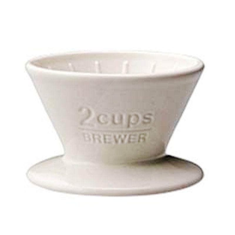 Kinto Brewer 27629 White Perlengkapan Minum Kopi & Teh [2 Cups]