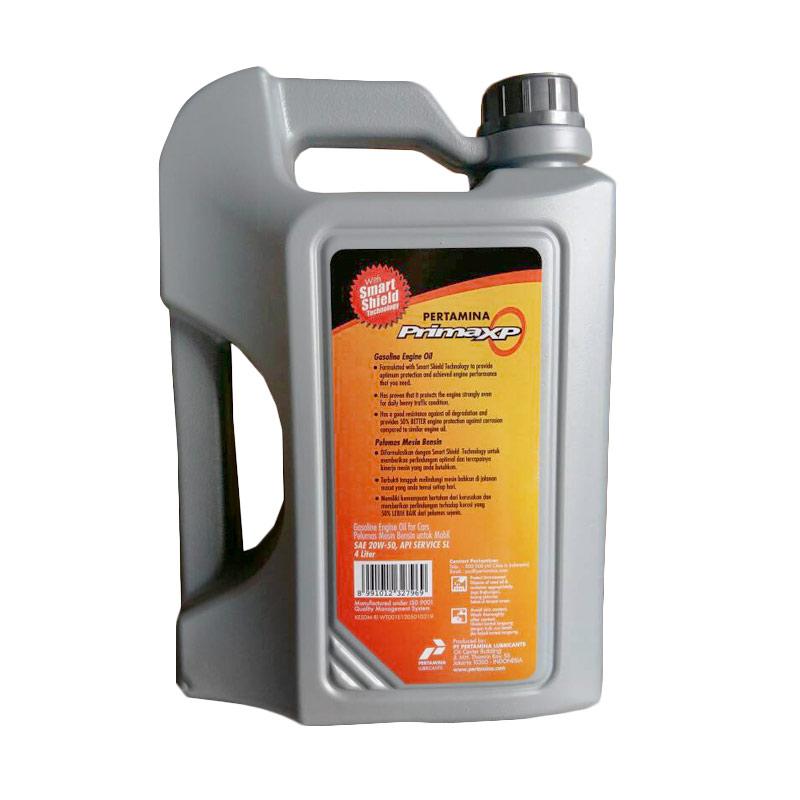Rp 190,000. Rp 169,000 ( 11 %). Stok Tersedia. Deskripsi. Pertamina Prima XP 20W-50 Oli Mobil Mesin Bensin [4 L]. Fitur Produk