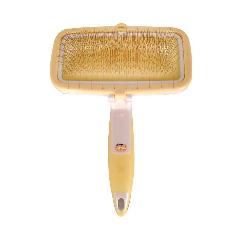 Pet Station Doggy Man Honey Smile HS Easy Cleaning Soft Slicker Brush S HS52