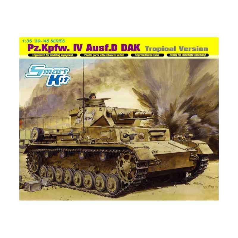 Dragon Pz.Kpfw.VI Ausf.D DAK Tropical Version - Model Kit