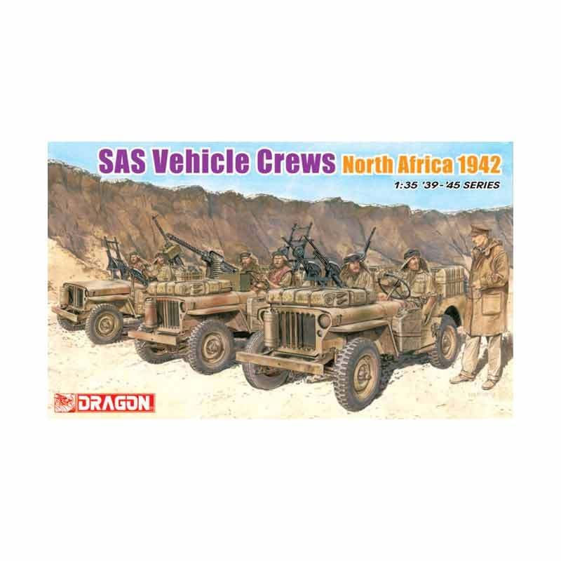 Dragon SAS Vehicle Crews North Africa 1942 - Model Kit