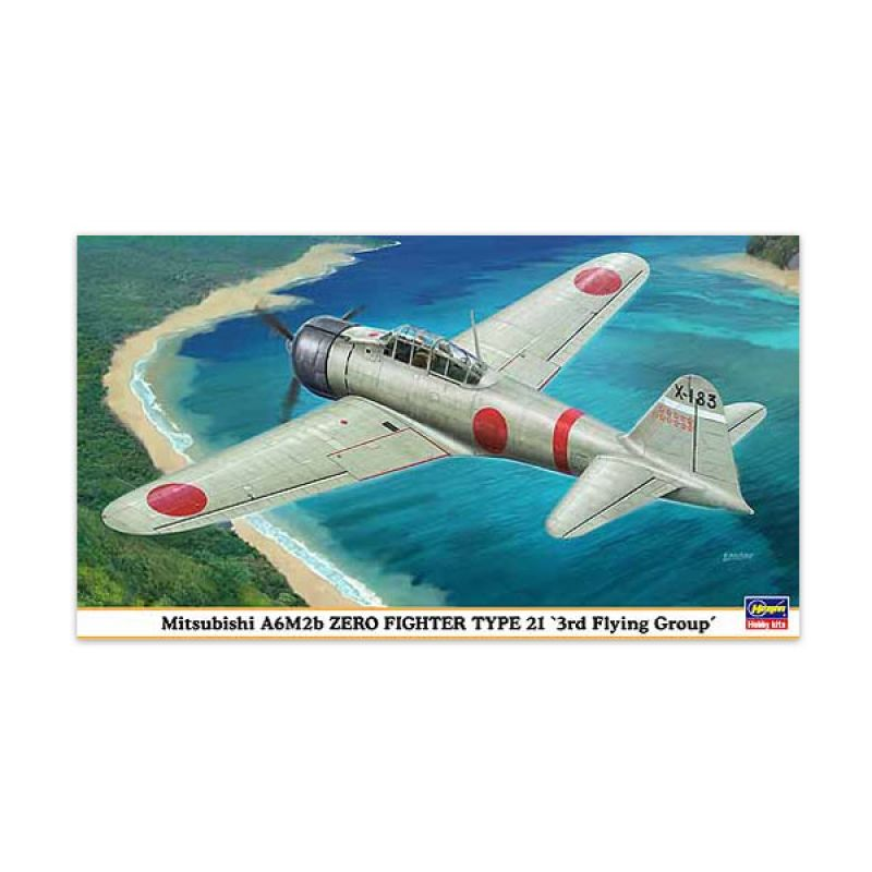 Hasegawa Mitsubishi A6M2b Zero Fighter Type 21 3rd Flying Group