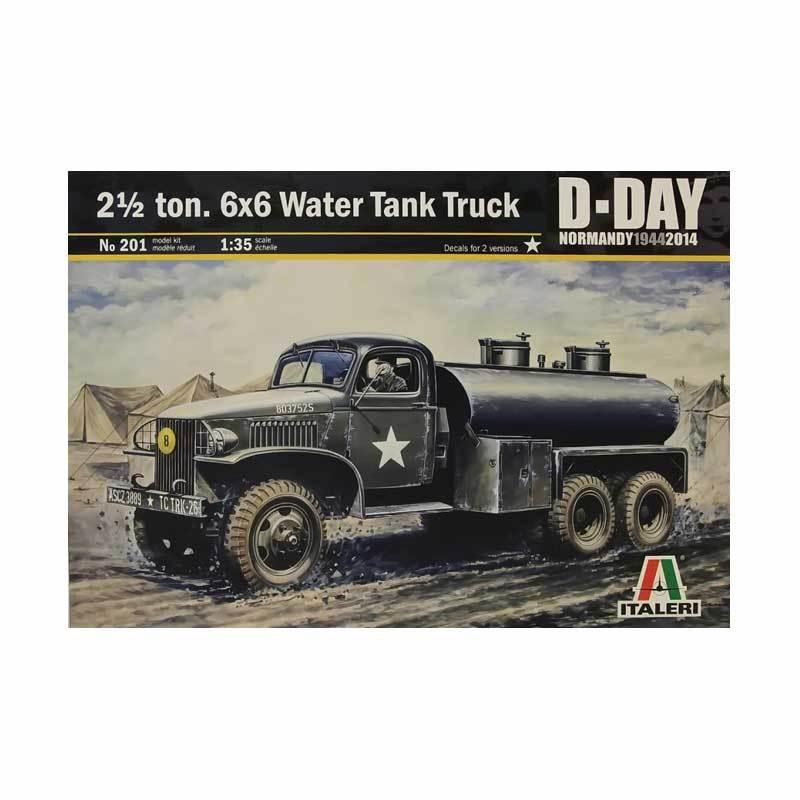 Italeri 2 1/2 ton. 6x6 Water Tank Truck - Model Kit