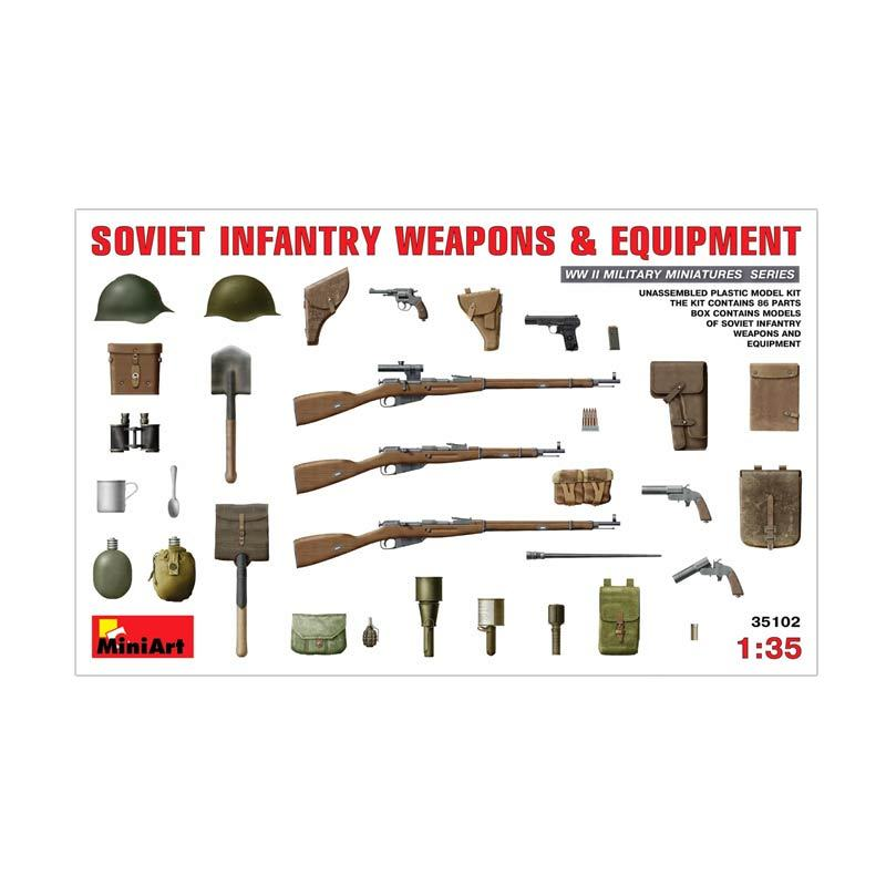 MiniArt Soviet Infantry Weapons & Equipment