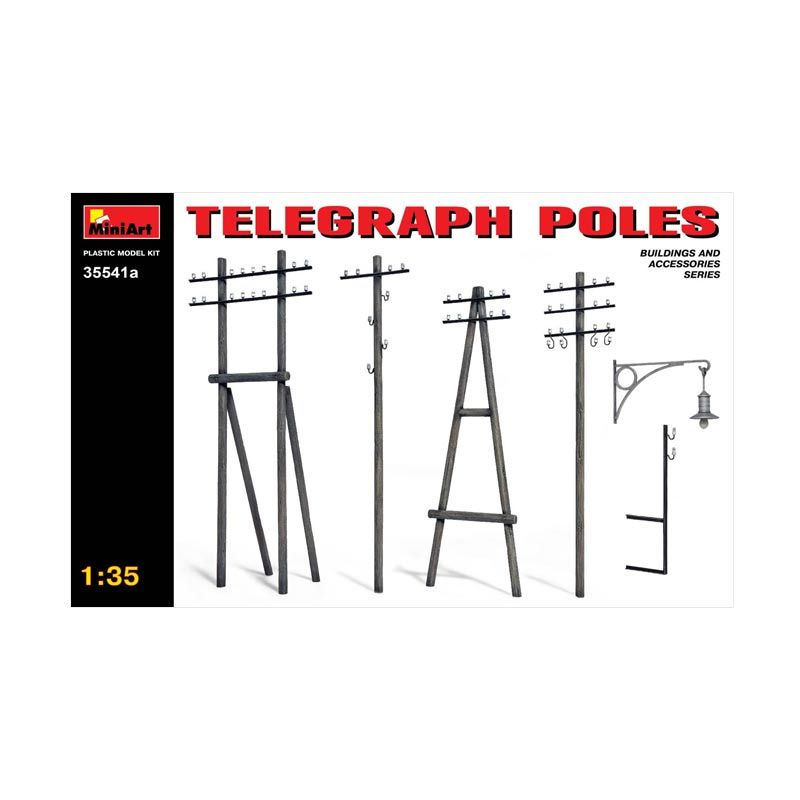 MiniArt Telegraph Poles - Model Kit