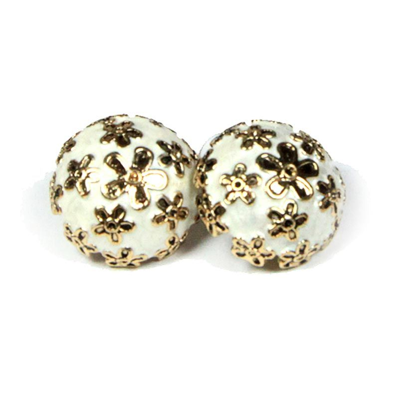 Petite Lola Button Daisy White Stud Earrings