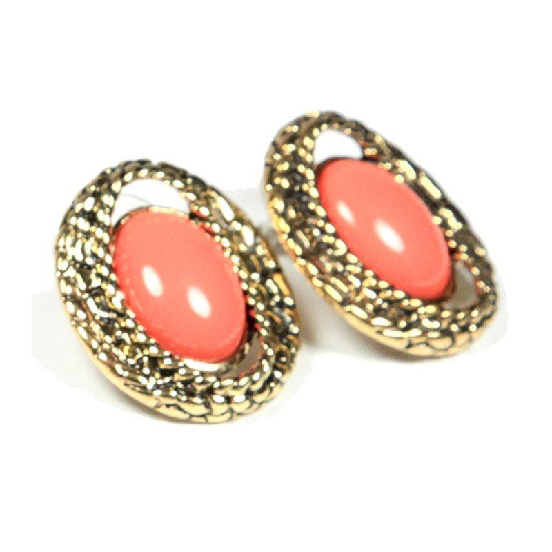 Petite Lola Coral Studs Earrings