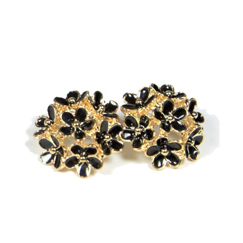 Petite Lola Daisy Black Bouquet Earrings