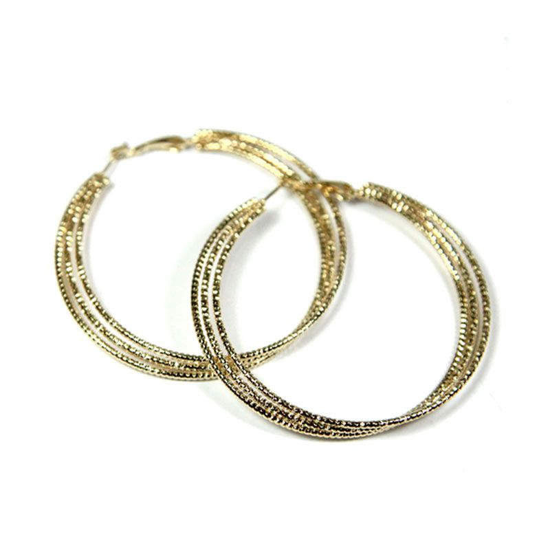 Petite Lola Gold 3 Hoops Earrings