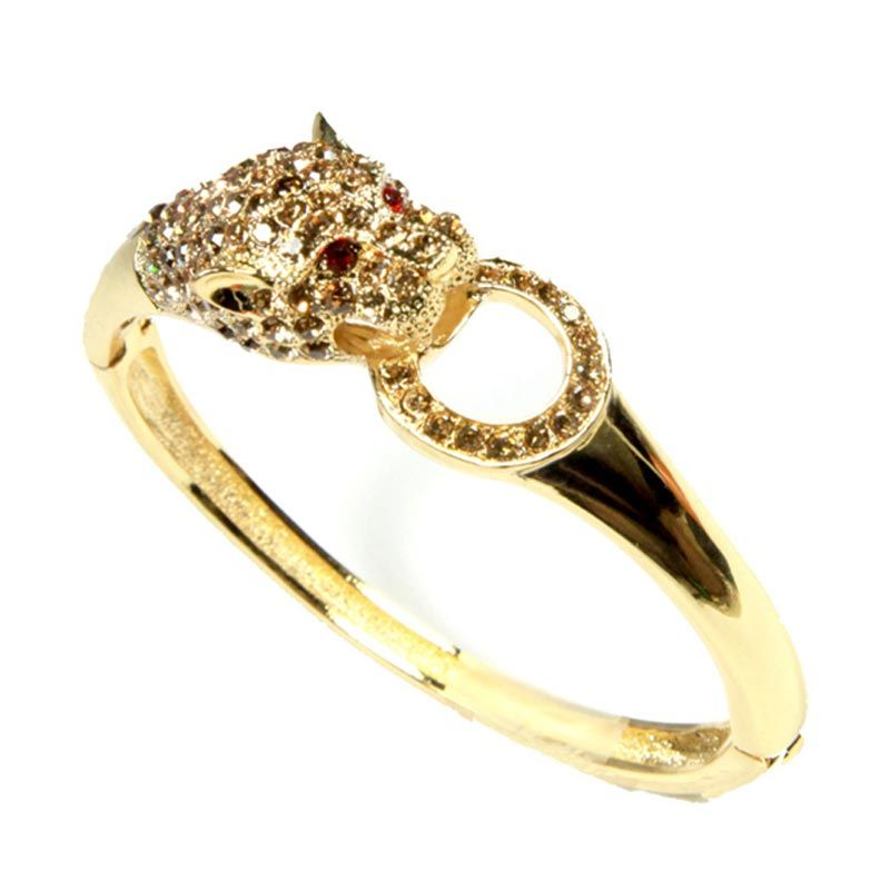 Petite Lola Gold Leopard Bracelet