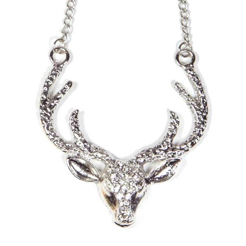 Petite Lola Silver Moose Necklace