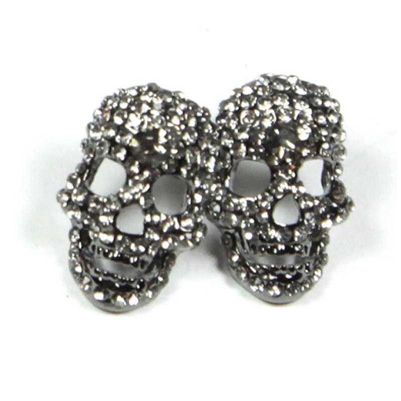 Petite Lola Skull Crystal Black Stud