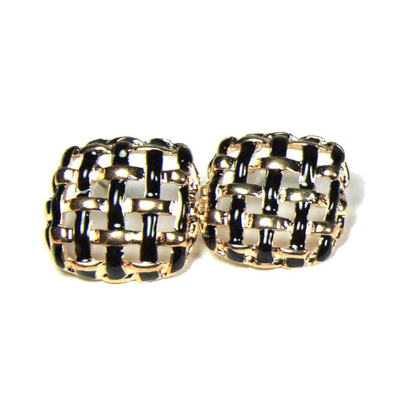 Petite Lola Tweed Stud Earrings