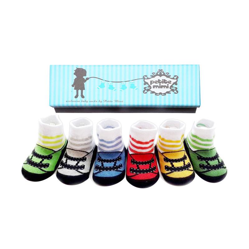 Petite Mimi Stripes Kaos Kaki [6 Pcs]