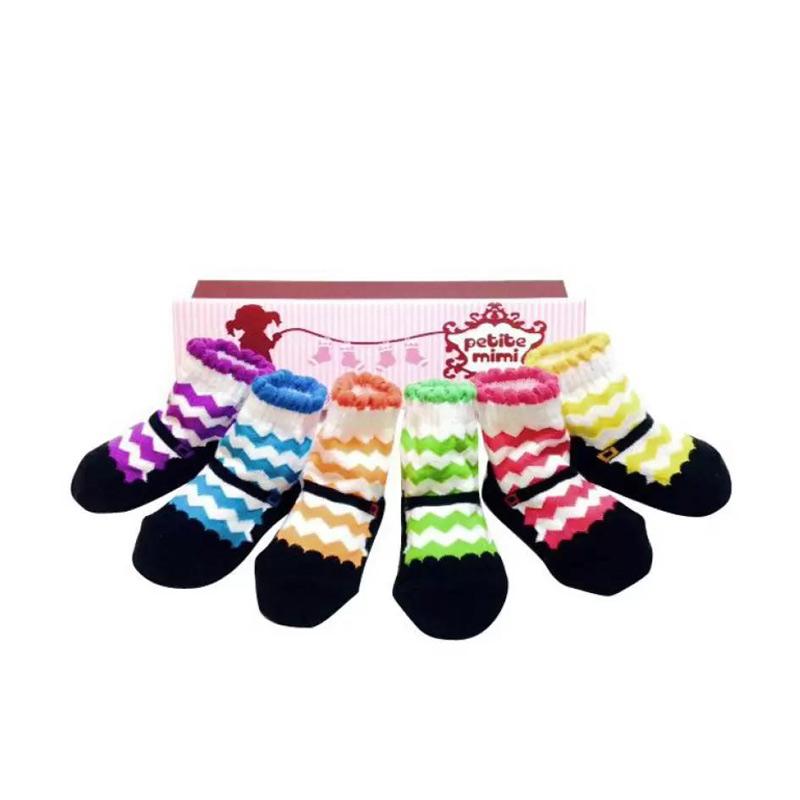 Petite Mimi Rainbow Kaos Kaki Bayi [6 Pcs]