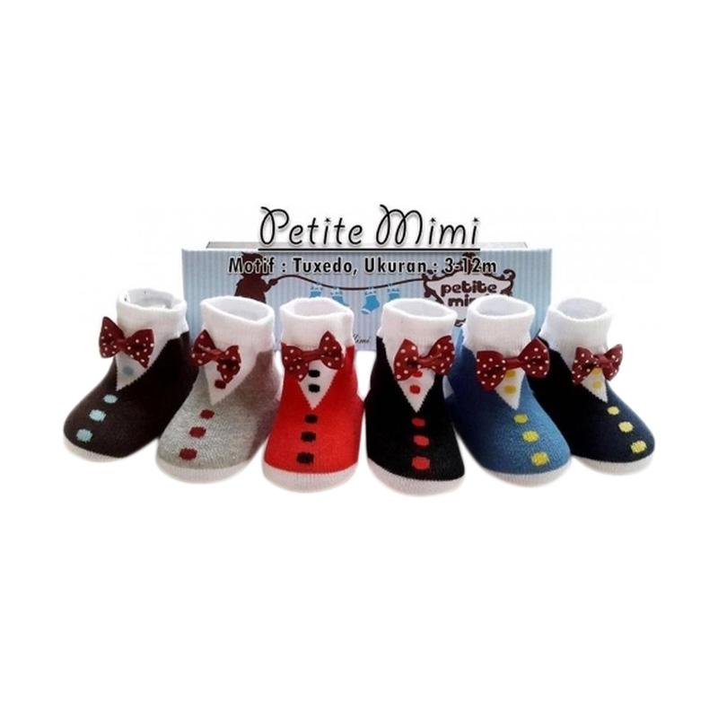 Petite Mimi Tuxedo Kaos Kaki Bayi [6 Pcs]