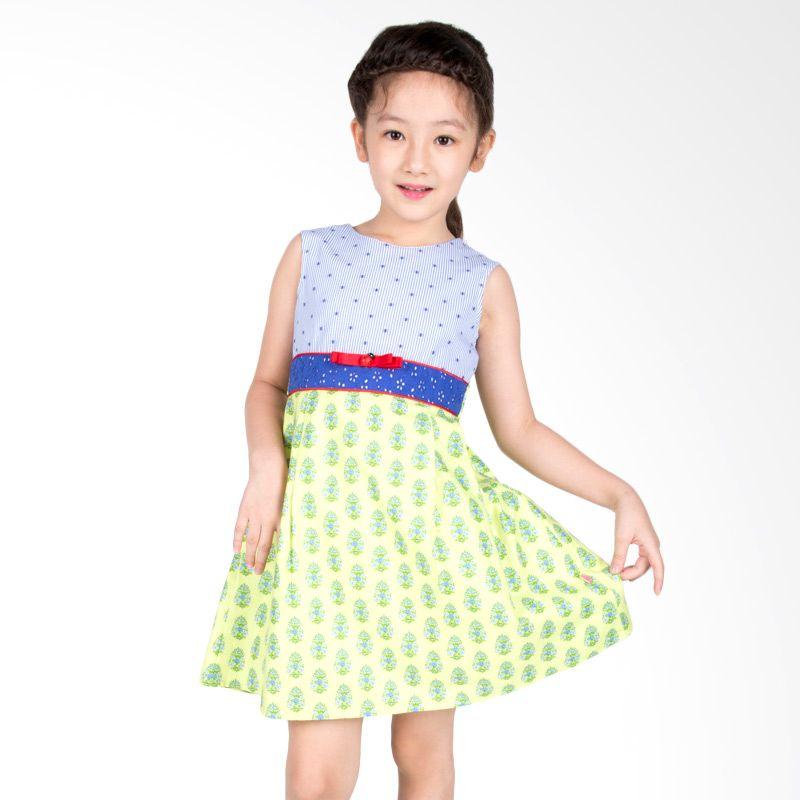 Petite Mon Cherrie Ladybug Hijau Biru Dress Anak