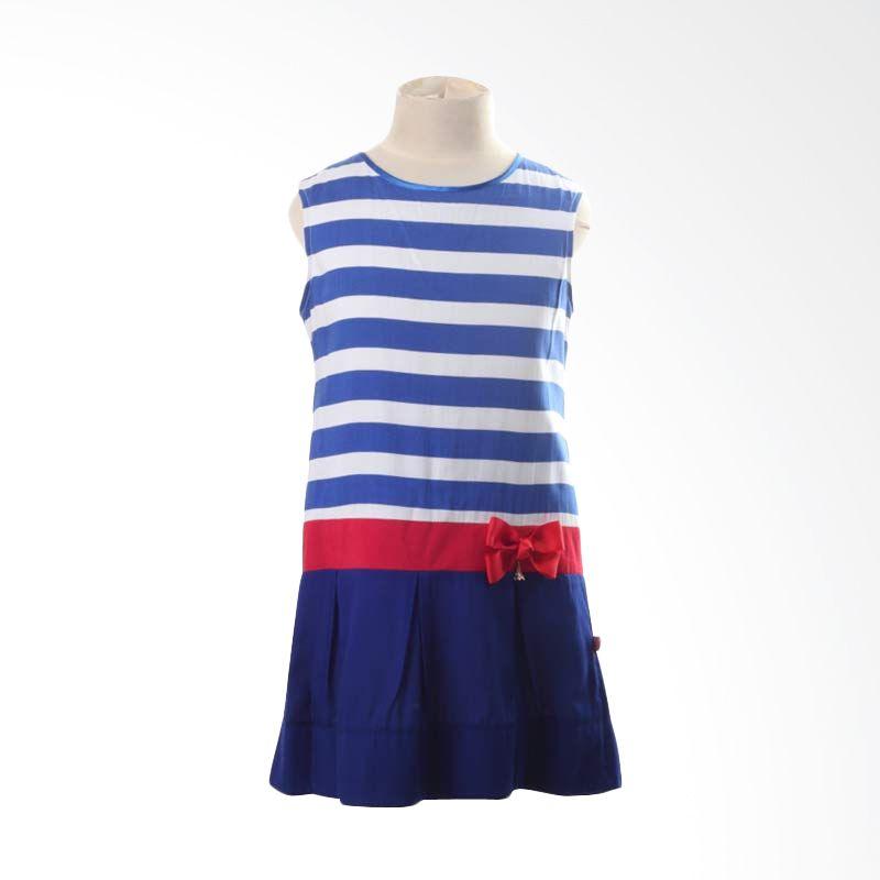 PMC Blue Dress White Stripes Red Ribbon