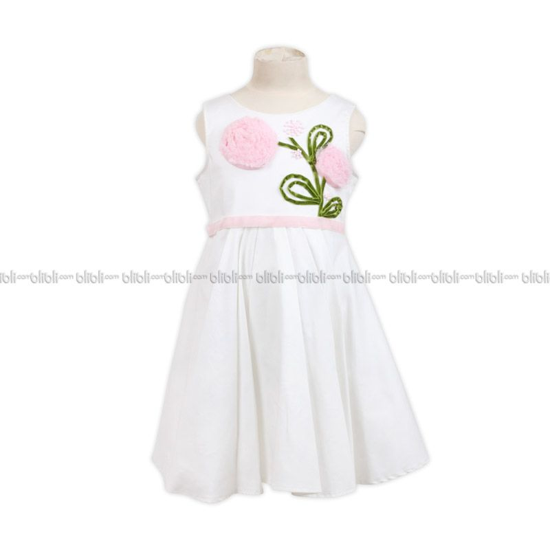 PMC Dress Offwhite Pita Flower Bludru Stalk