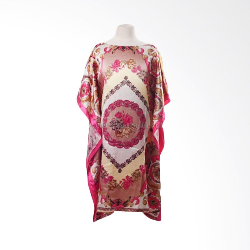 PMC Gamis Kalong Motif Renda Fuschia