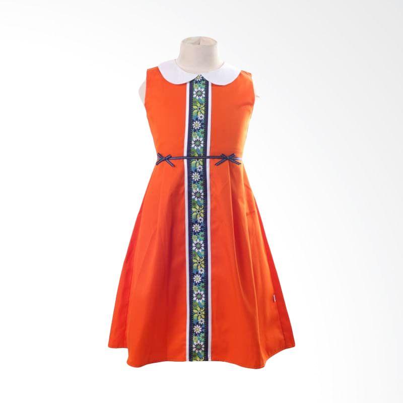PMC White Collar Dress Orange