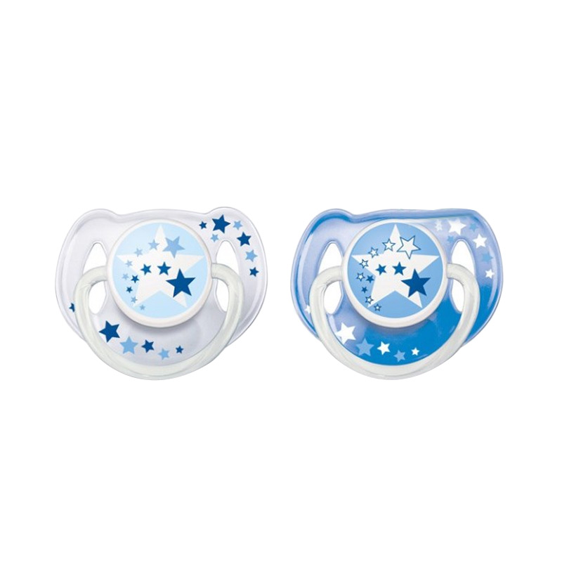 harga Philips Avent Orthodentic Pacifier Soother 06m Night Dot Bayi - Time Blue [2 Pack] Blibli.com