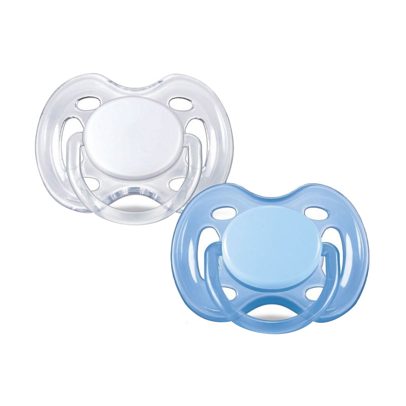 Philips Avent Orthodentic Pacifier Soother 6m Dot Bayi - Blue White [2 Pack]