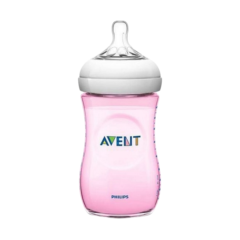 Philips Avent Natural Bottle - Pink [260 mL/Isi 1]