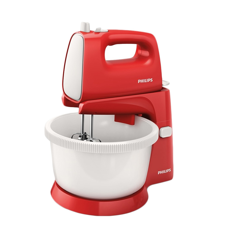 Philips HR1559 New Stand Mixer - Merah