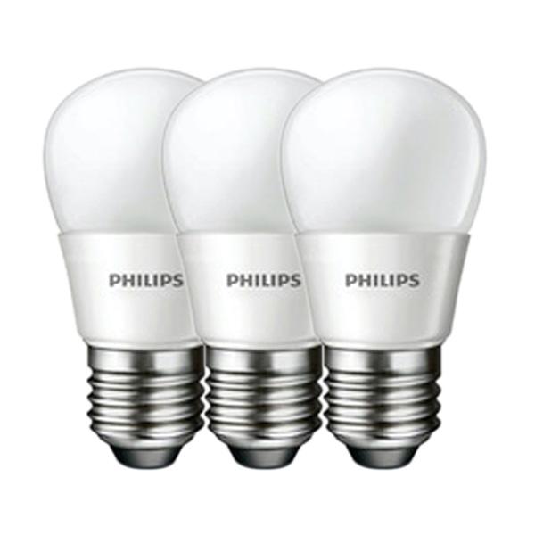 Lampu LED Philips Putih Bohlam 4w/4watt/4 w/4 watt [3 Pcs] White