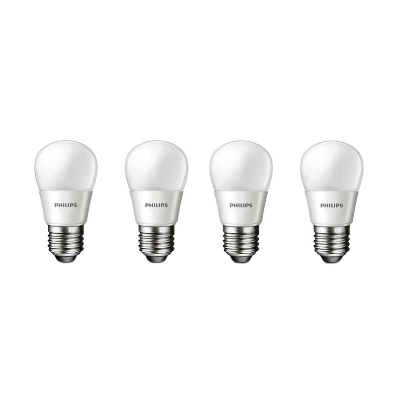 Jual Philips LED Bulb P45 Putih Lampu 3 Watt 4 Pcs