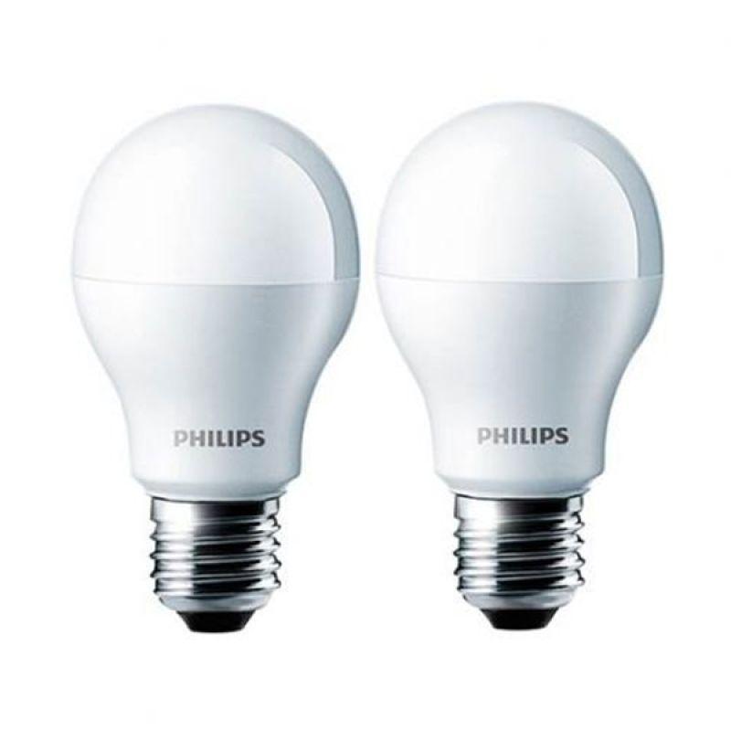 Philips LED Putih Bohlam [7 W/2 Pcs]