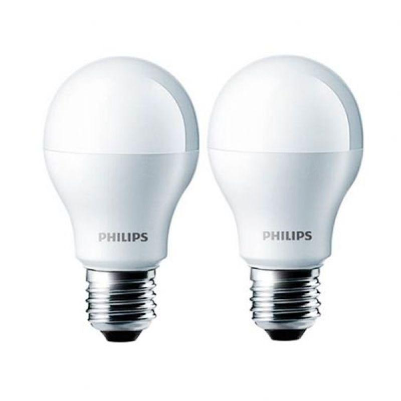 Philips LED Putih Bohlam [9 W/2 Pcs]