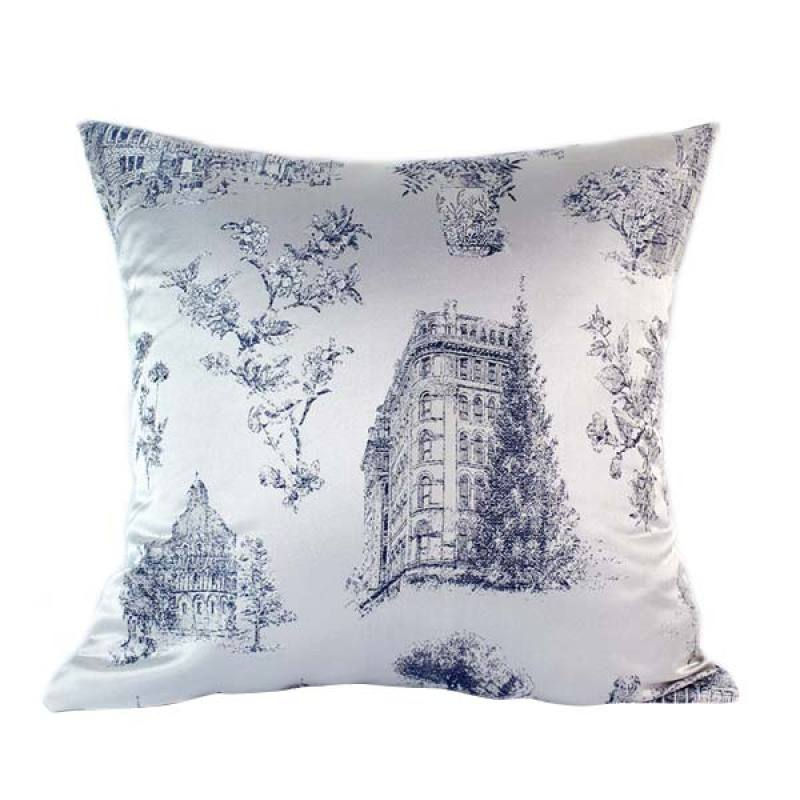 Philo-French Colonial cushion cover