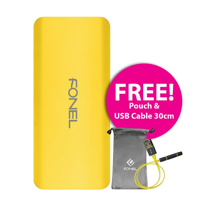 Fonel Power Pack Mattex Fressia Powerbank [10000 mAh] + Pouch + USB Cable