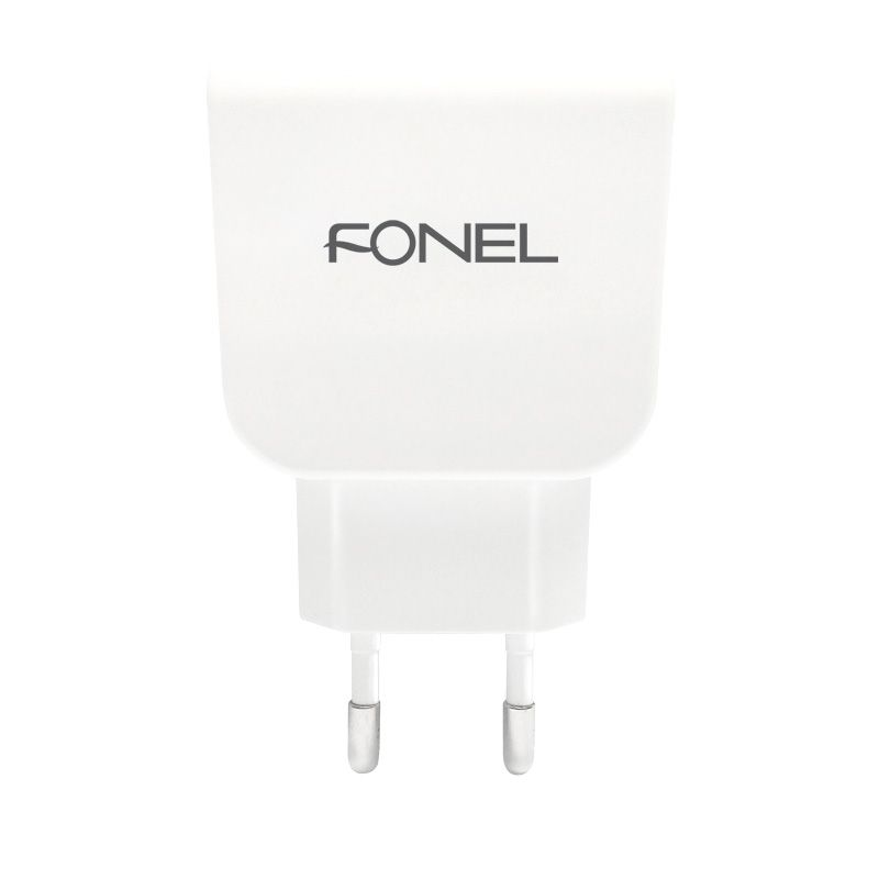Fonel White Dual Travel Charger [3.6 A]