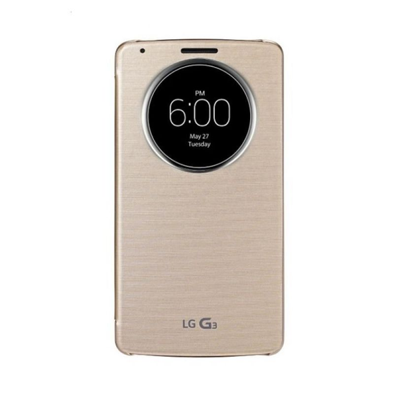 LG Quick Circle Silky Shine Gold Casing for G3