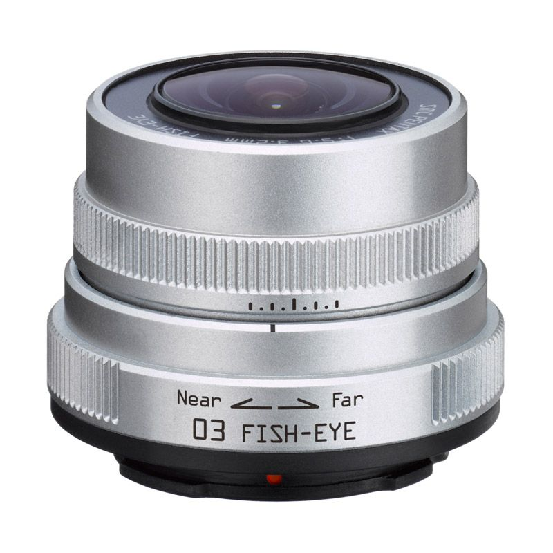 Pentax 03 Fish Eye 3.2mm F5.6 Silver Lensa Kamera