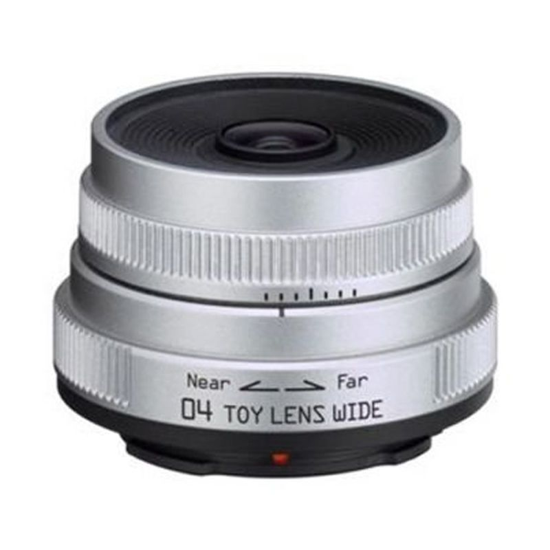 Pentax 04 Toy Lens Wide 6.3mm F7.1 Silver Lensa Kamera
