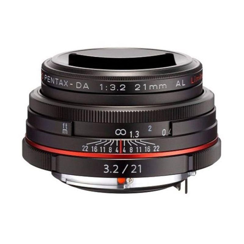 Pentax HD DA 21mm F3.2 AL Limited B W/CASE Lensa Kamera